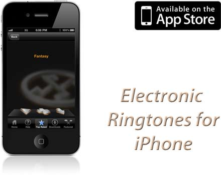 Electronic ringtones for iPhone